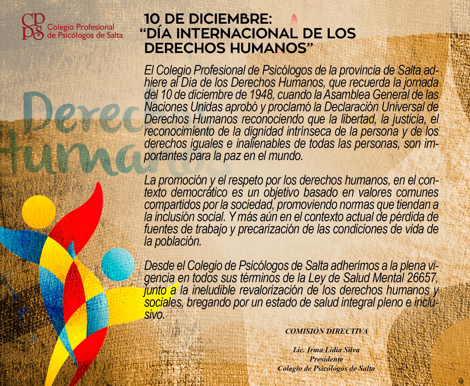 """10 de Diciembre: """"Día Internacional de los Derechos Humanos"""""""