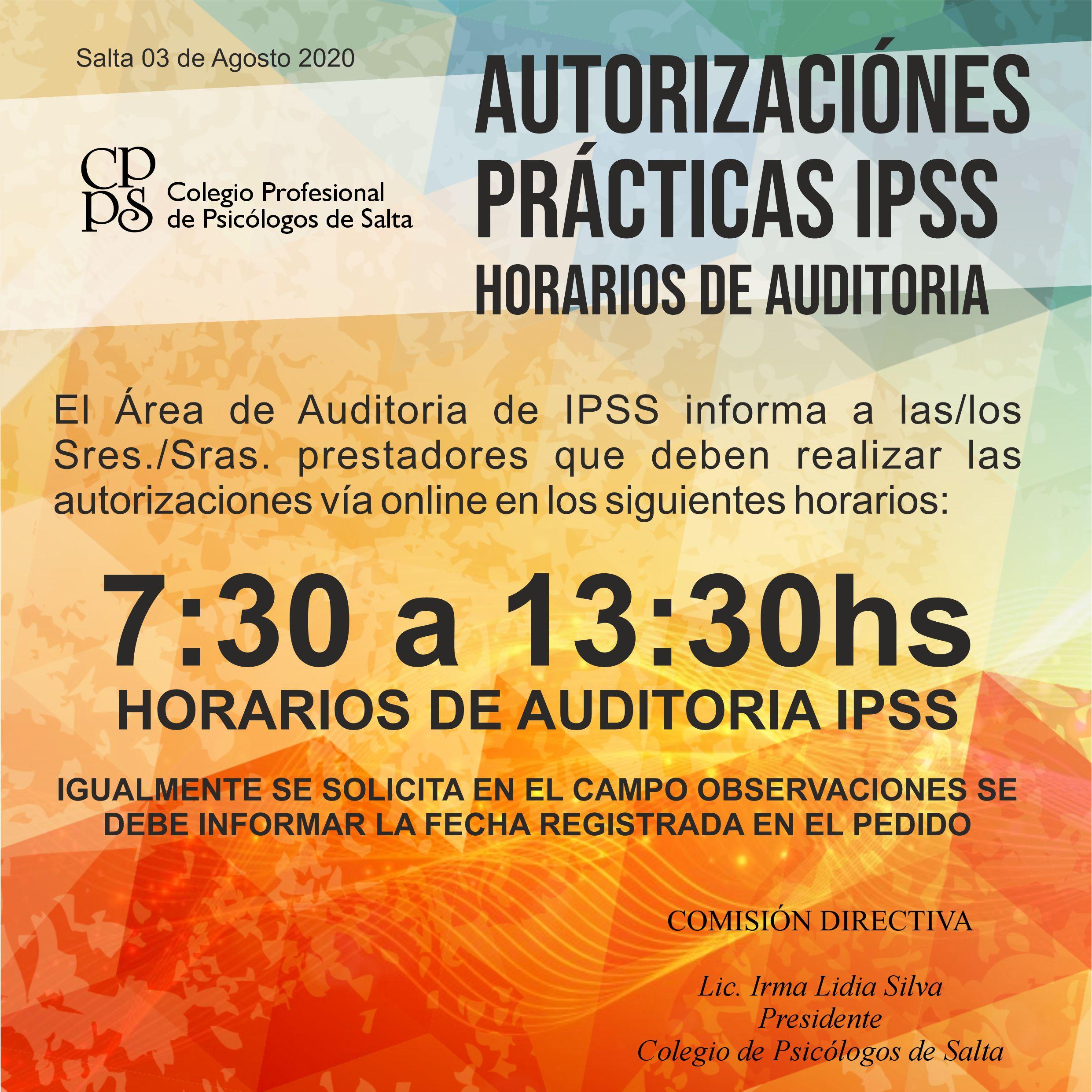 horario autorizaciones ipss